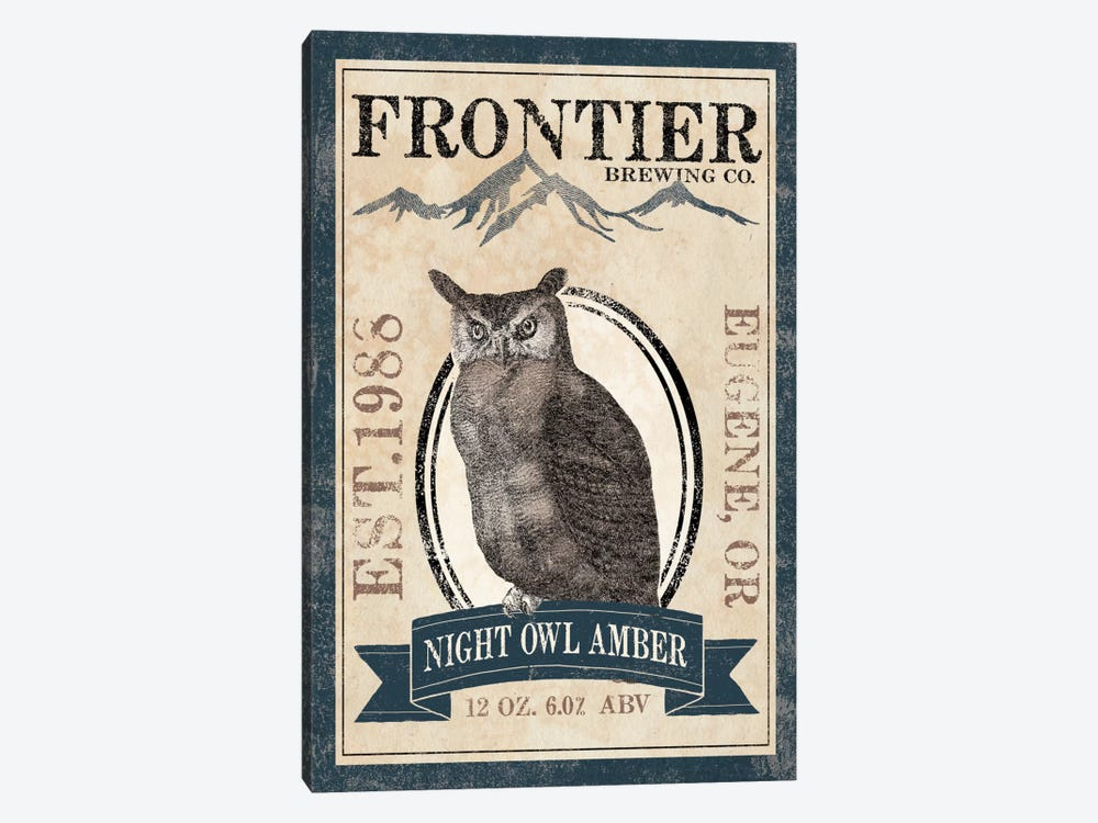 Frontier Brewing Co. III (Night Owl Amber) by Laura Marshall 1-piece Canvas Artwork