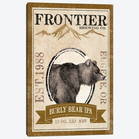 Frontier Brewing Co. IV (Burly Bear IPA) Canvas Print #WAC5332} by Laura Marshall Canvas Artwork