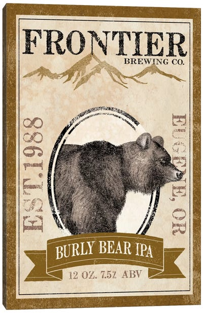 Frontier Brewing Co. IV (Burly Bear IPA) Canvas Art Print