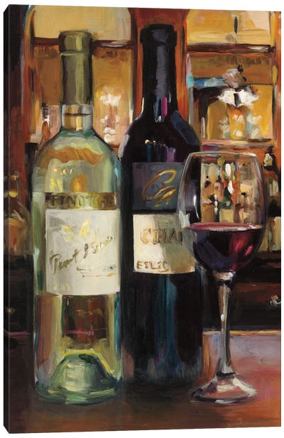 A Reflection Of Wine II by Marilyn Hageman Canvas Art Print