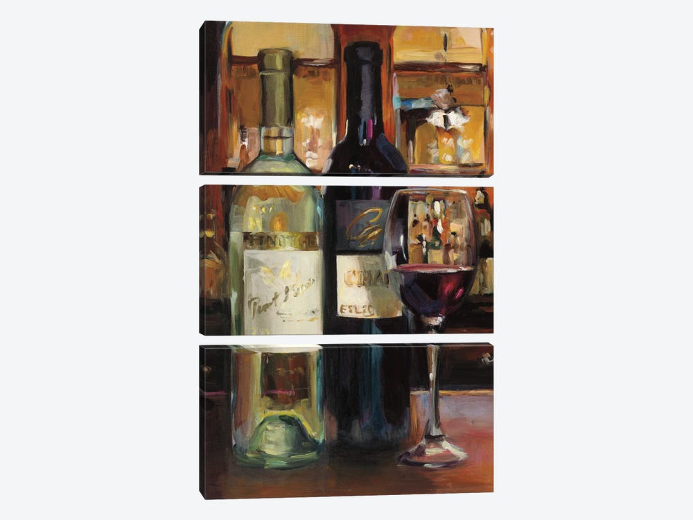 A Reflection Of Wine II by Marilyn Hageman 3-piece Canvas Art