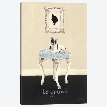 Le Growl Canvas Print #WAC533} by Emily Adams Canvas Wall Art