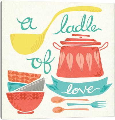 A Ladle Of Love Canvas Art Print