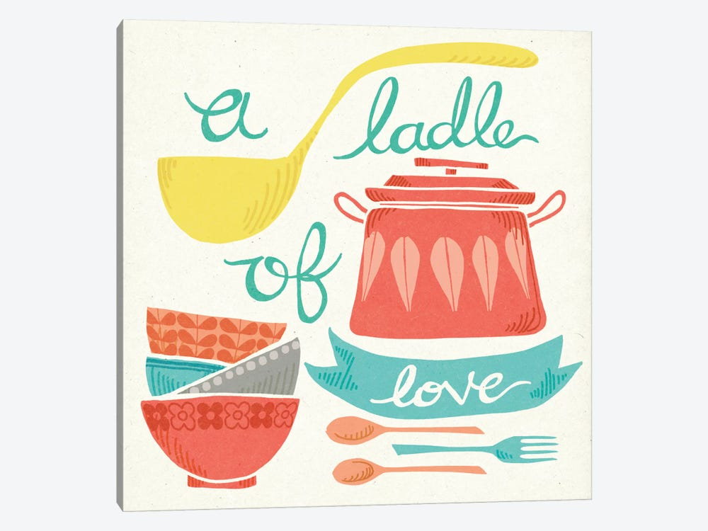 A Ladle Of Love by Mary Urban 1-piece Canvas Art Print