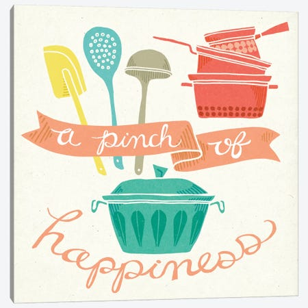 A Pinch Of Happiness Canvas Print #WAC5344} by Mary Urban Canvas Art