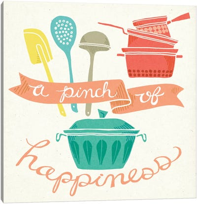 A Pinch Of Happiness Canvas Art Print