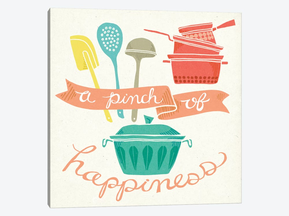 A Pinch Of Happiness by Mary Urban 1-piece Canvas Wall Art