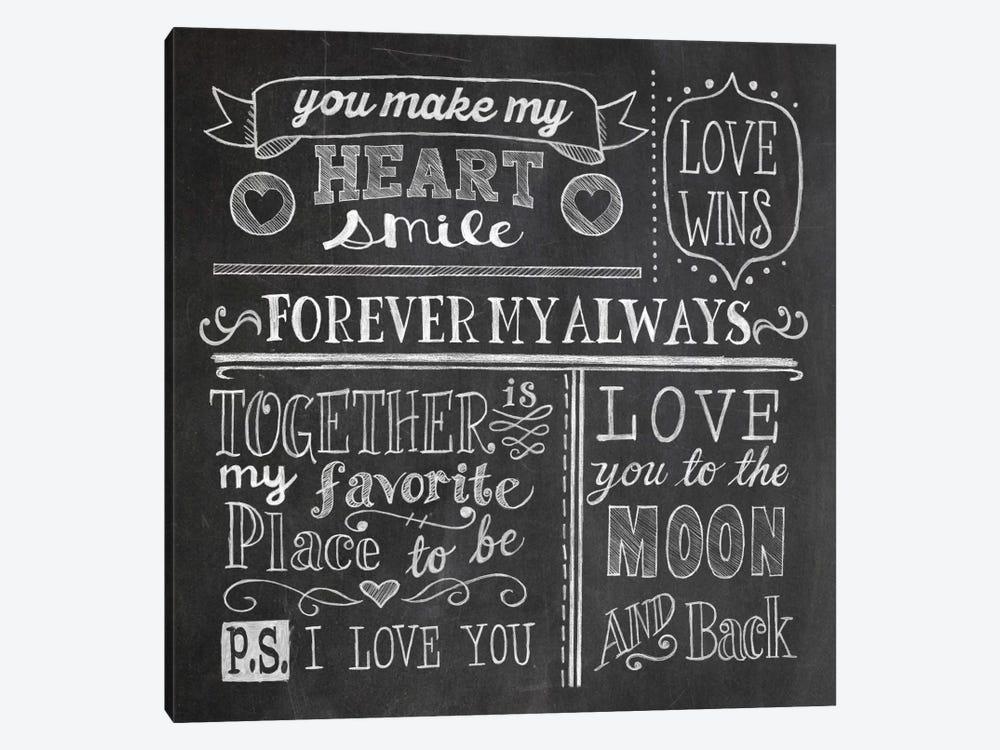 Inspiration Chalkboard I by Mary Urban 1-piece Canvas Art Print