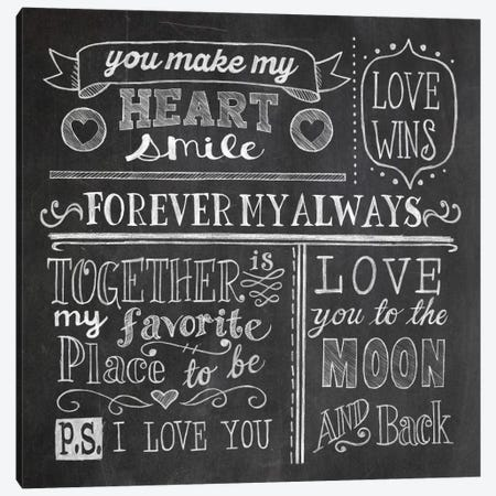 Inspiration Chalkboard I Canvas Print #WAC5345} by Mary Urban Canvas Artwork