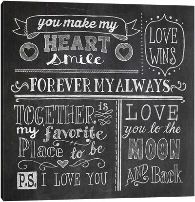 Inspiration Chalkboard I Canvas Art Print