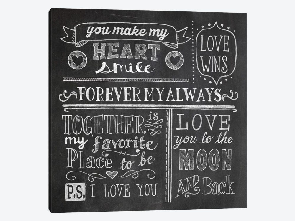 Inspiration Chalkboard I by Mary Urban 1-piece Canvas Art Print