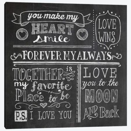 Inspiration Chalkboard I Canvas Print #WAC5345} by Mary Urban Canvas Artwork