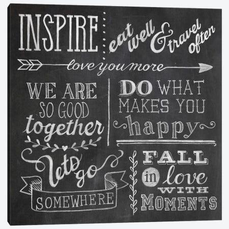 Inspiration Chalkboard III Canvas Print #WAC5347} by Mary Urban Canvas Artwork