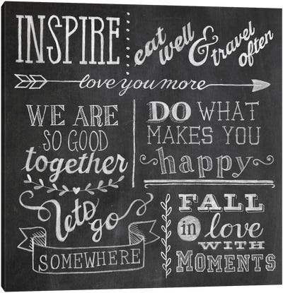 Inspiration Chalkboard III Canvas Art Print