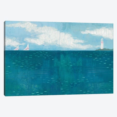 Lighthouse Sail Canvas Print #WAC5352} by Melissa Averinos Canvas Wall Art