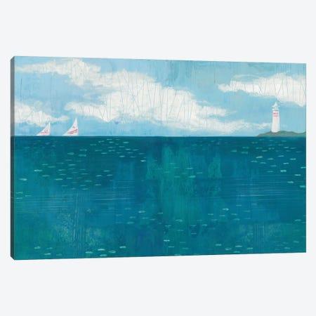 Lighthouse Sail Canvas Print #WAC5352} by Melissa Averinos Canvas Wall Art