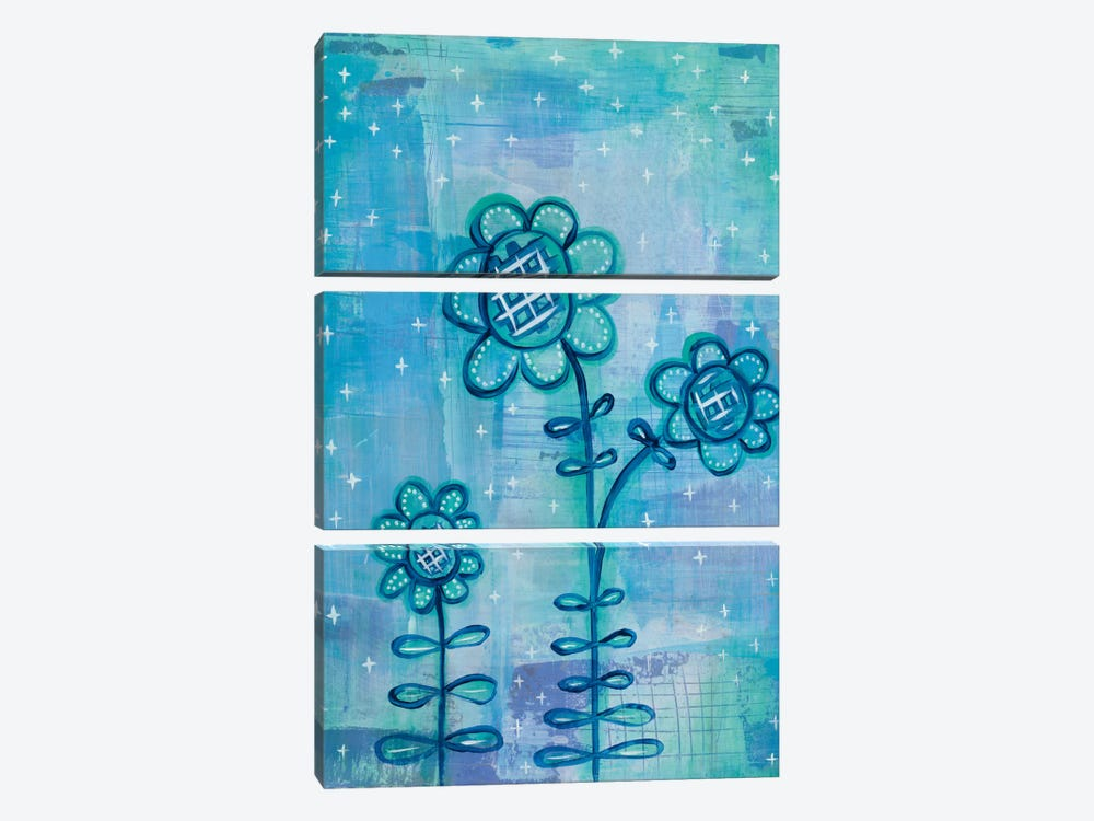 Magical Flowers I by Melissa Averinos 3-piece Canvas Artwork