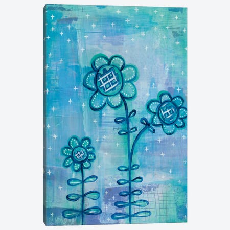 Magical Flowers I Canvas Print #WAC5353} by Melissa Averinos Canvas Wall Art