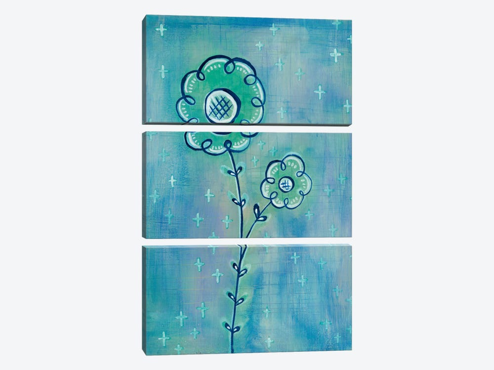 Magical Flowers II by Melissa Averinos 3-piece Canvas Print