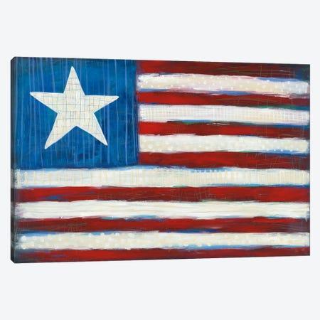 Modern Americana Flag Canvas Print #WAC5356} by Melissa Averinos Art Print