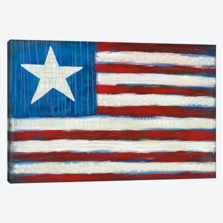 Modern Americana Flag Canvas Print #WAC5356} by Melissa Averinos Art Print
