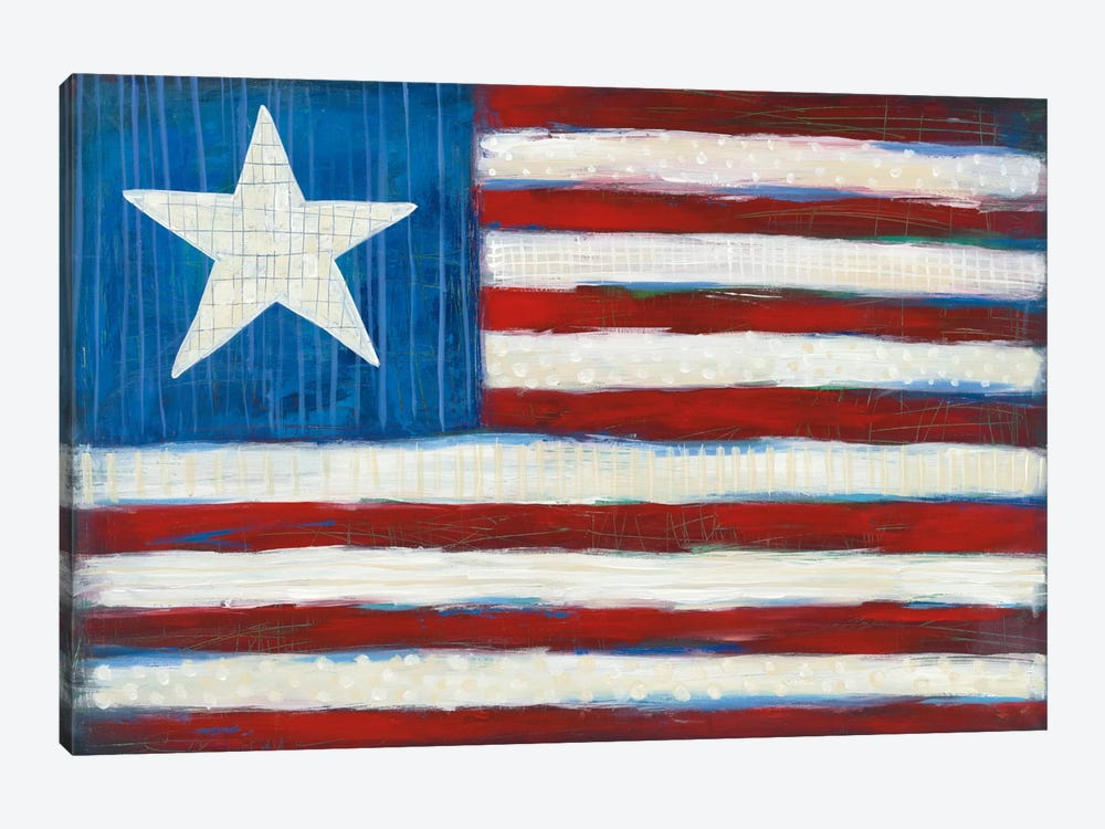 Modern Americana Flag 1-piece Canvas Print