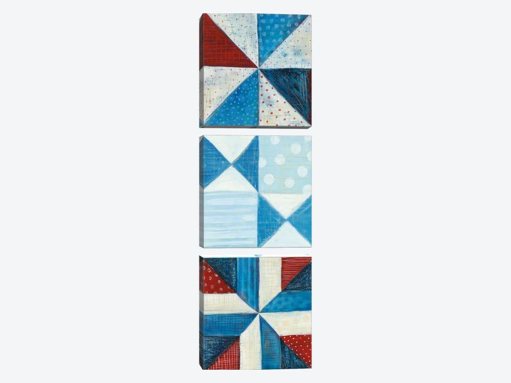 Modern Americana Panel I by Melissa Averinos 3-piece Canvas Wall Art