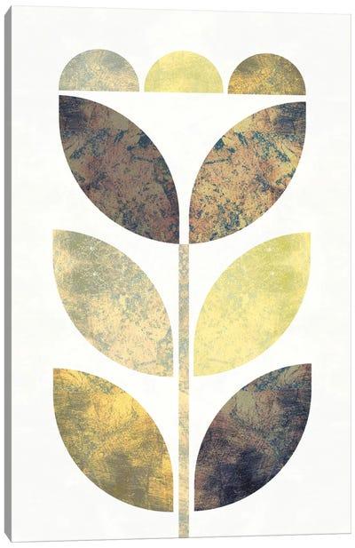 Golden Flower I Canvas Art Print