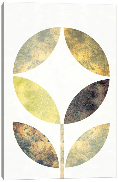 Golden Flower II Canvas Print #WAC5371