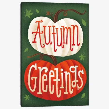 Autumn Greetings Canvas Print #WAC5373} by Michael Mullan Canvas Artwork