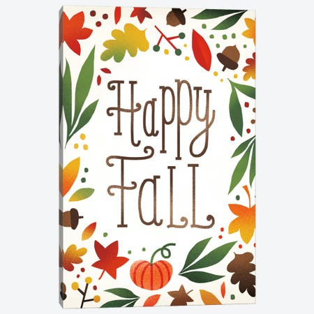 Happy Fall Canvas Print #WAC5374} by Michael Mullan Canvas Art Print