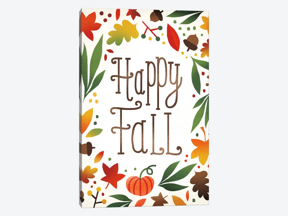 Happy Fall by Michael Mullan 1-piece Canvas Art Print