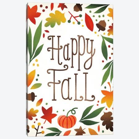 Happy Fall Canvas Print #WAC5374} by Michael Mullan Canvas Art Print