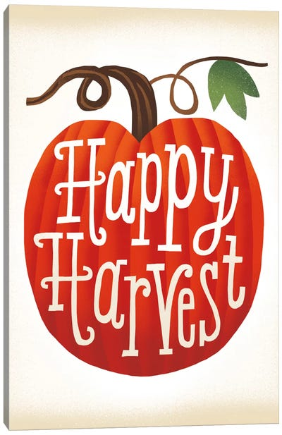 Harvest Time Series: Happy Harvest Canvas Print #WAC5375
