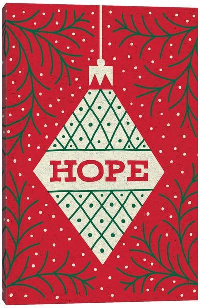 Jolly Holiday Ornaments Series: Hope Canvas Print #WAC5376