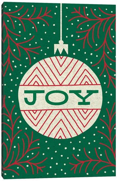 Jolly Holiday Ornaments Series: Joy Canvas Print #WAC5377