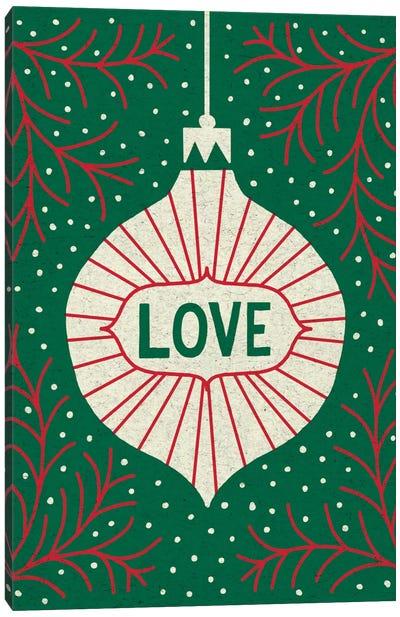 Jolly Holiday Ornaments Series: Love Canvas Print #WAC5378