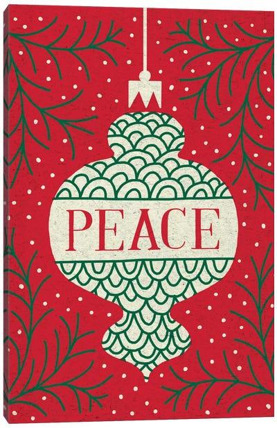 Jolly Holiday Ornaments Series: Peace Canvas Print #WAC5379