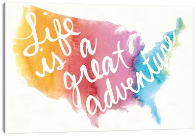 Watercolor USA Canvas Art Print