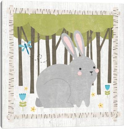 Woodland Hideaway Series: Bunny Canvas Print #WAC5384