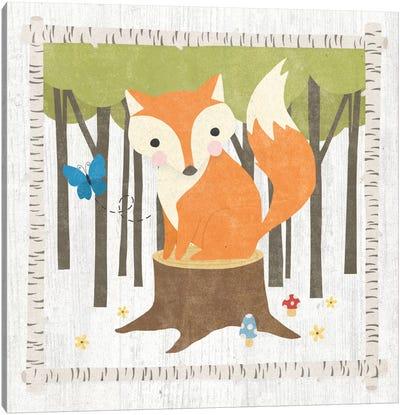 Woodland Hideaway Series: Fox Canvas Print #WAC5386