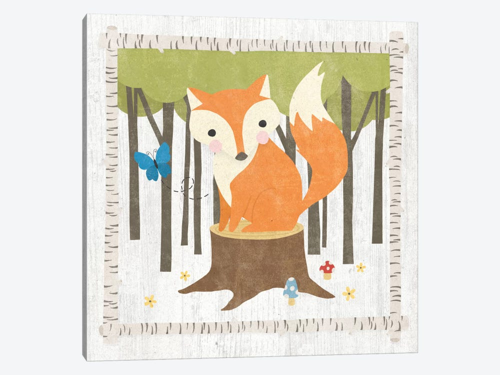 Fox by Moira Hershey 1-piece Canvas Wall Art