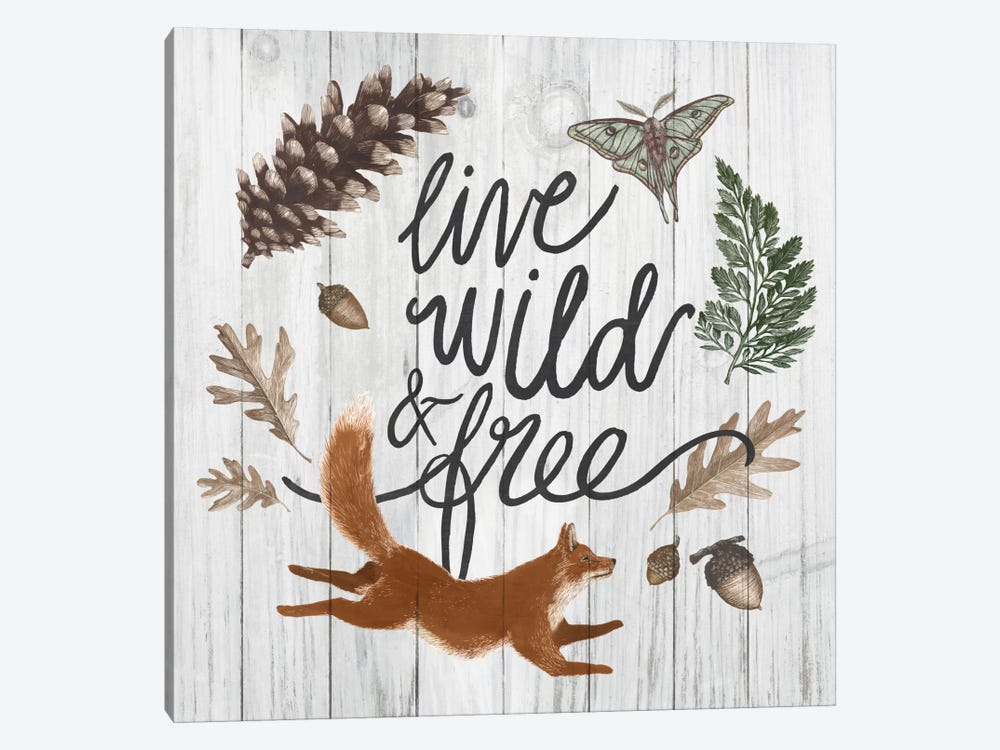 Live Wild And Free by Sara Zieve Miller 1-piece Canvas Artwork