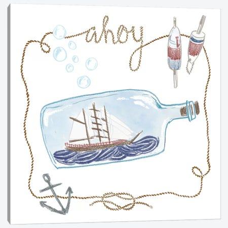 Ahoy Canvas Print #WAC5397} by Sara Zieve Miller Art Print