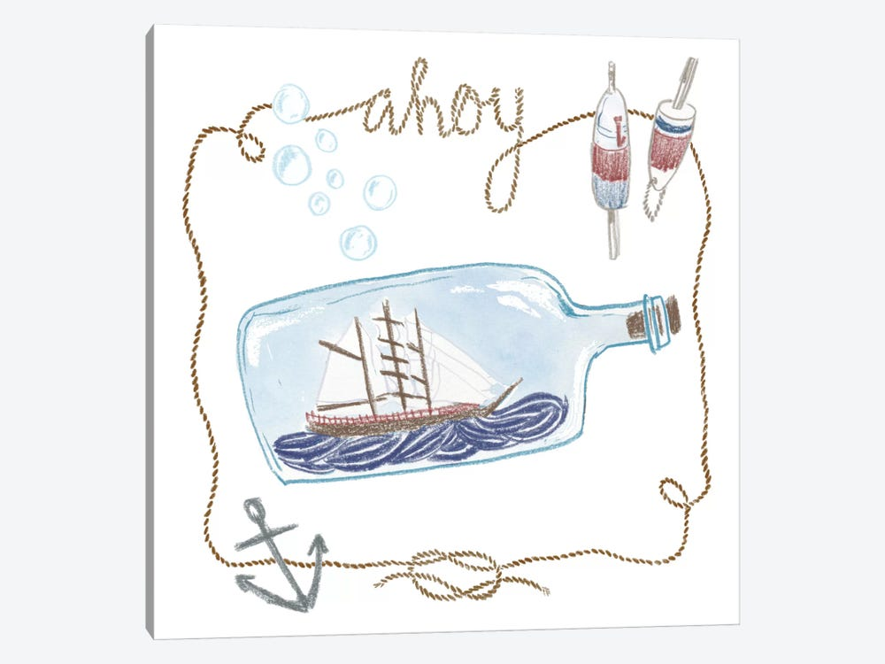 Ahoy by Sara Zieve Miller 1-piece Canvas Art