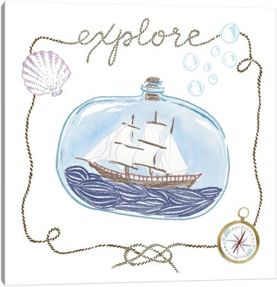 Explore Canvas Art Print
