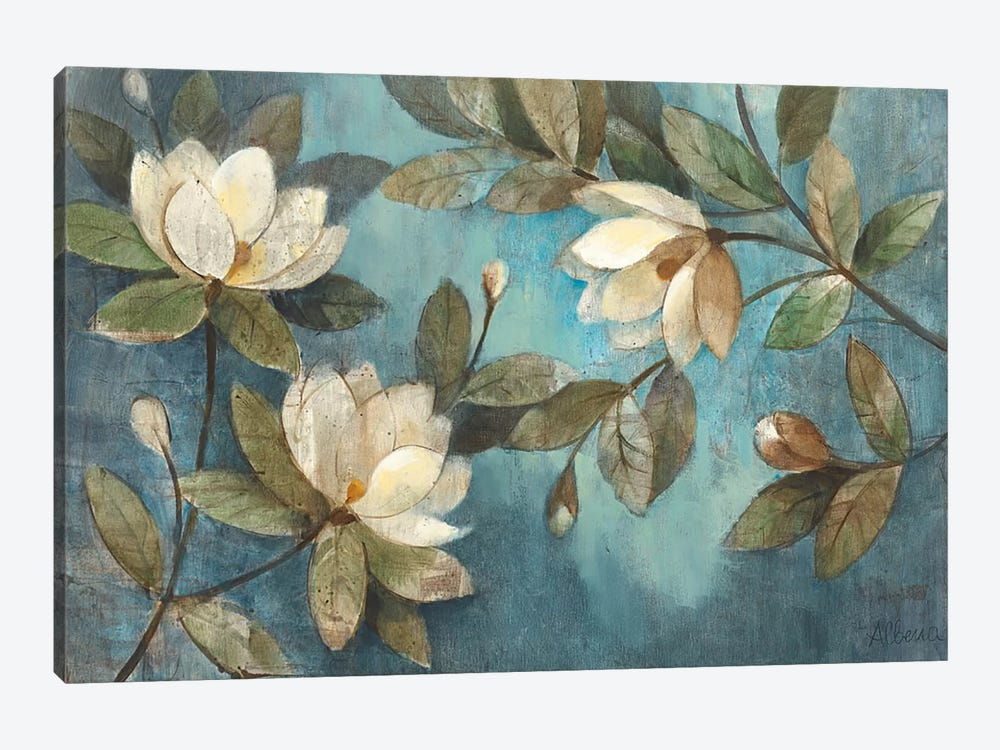 Floating Magnolias by Albena Hristova 1-piece Canvas Artwork