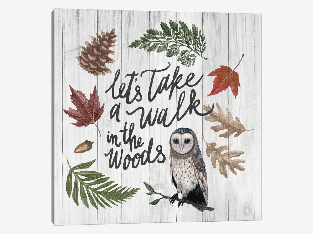Walk In The  Woods by Sara Zieve Miller 1-piece Canvas Print