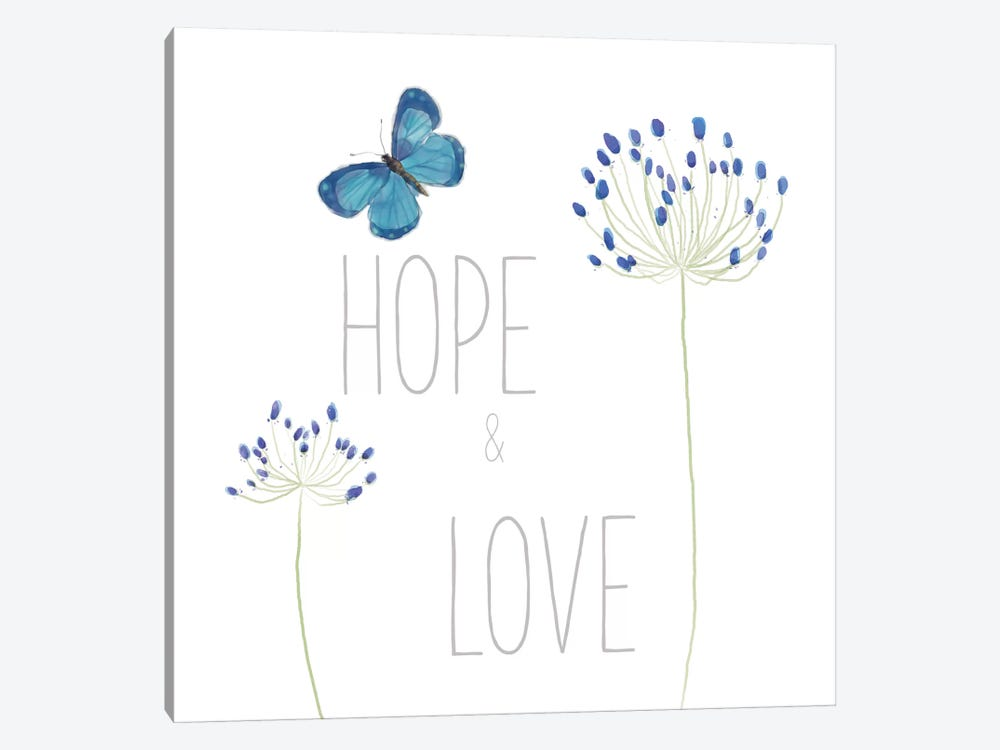 Hope And Love by Sarah Adams 1-piece Canvas Art