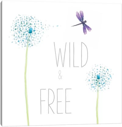 Wild And Free Canvas Art Print